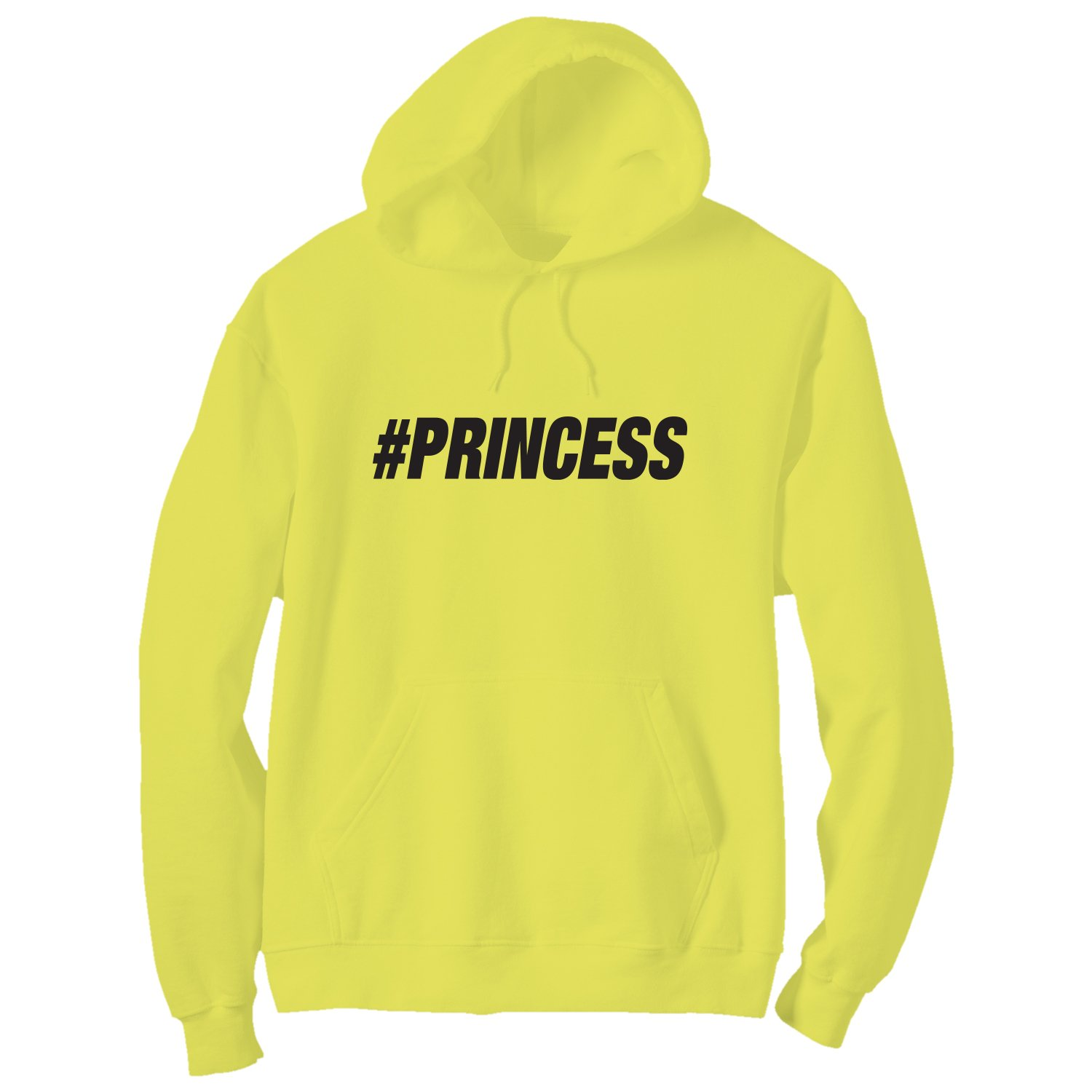 #PRINCESS Bright Neon Yellow Adult Pullover Hoodie XX-Large