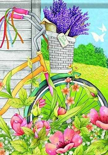 Acentos para el hogar jardín bandera, bicicleta cesta: Amazon.es: Jardín