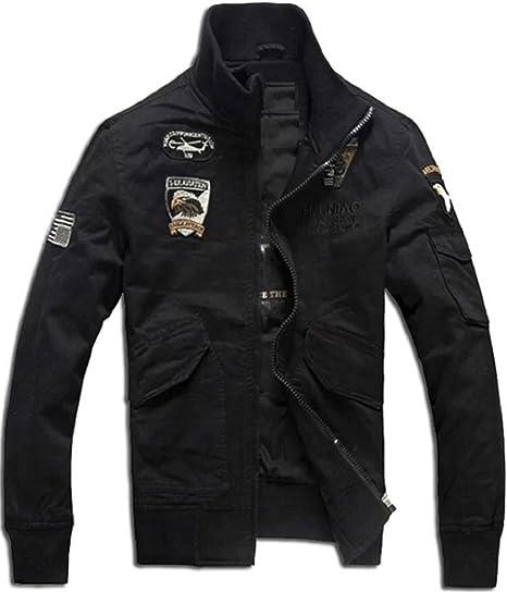 [アルファーフープ] メンズ カーゴ アウター 長 袖 ブルゾン ジップアップ ジャケット コート MA-1 上着 QR-3
