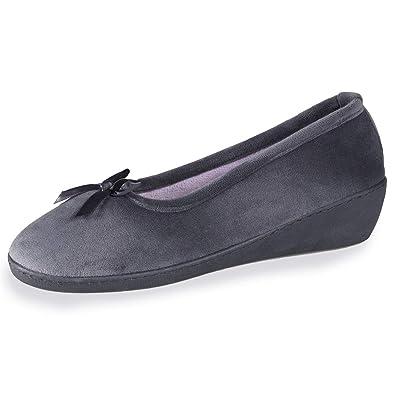 f43d2baf18f30 Isotoner Chaussons Ballerines Talon Femme Ruban Satin  Amazon.fr  Chaussures  et Sacs