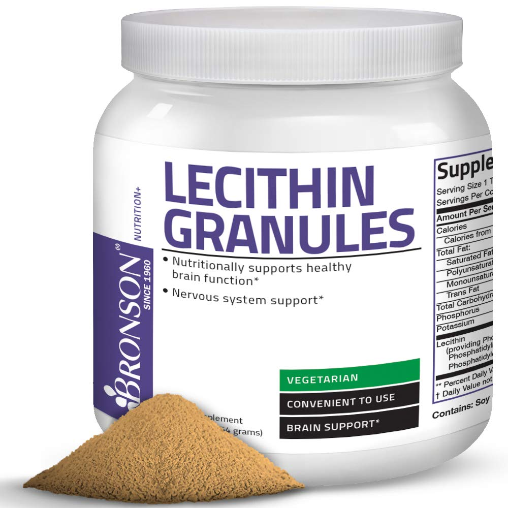 Bronson Lecithin Granules (Powder) 7500 MG, 1 Lbs (454 Grams, or 16 Ounces) by Bronson Laboratories