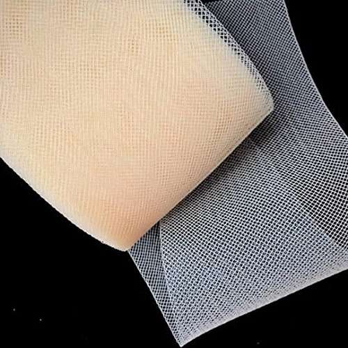 4''inch Wide Ivory Polyester Horsehair Braid, Selling per Roll 22 Yards by Sewing888
