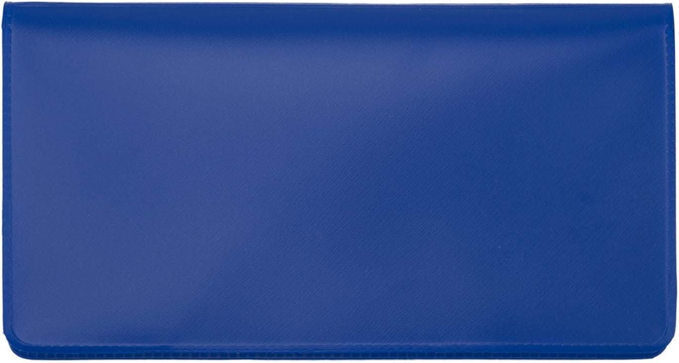 Royal Blue Vinyl Checkbook Cover, Top Tear Personal Vinyl Checkbook Cover