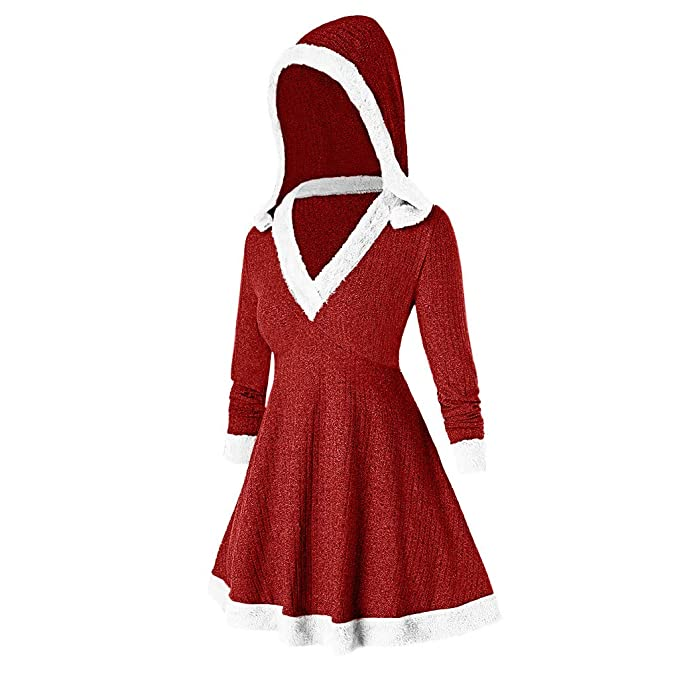 OPAKY Vestidos de Mujer Navidad Largos Invierno Elegantes Vestido ...