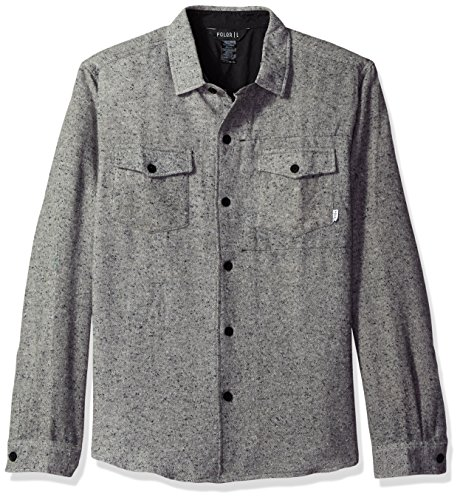 Poler Men's Zilla Woven Shirt, Grey, X-Large