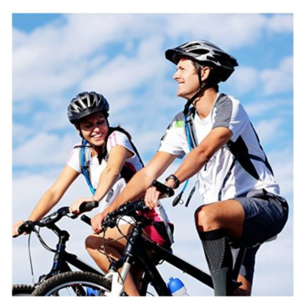 Enshey Unisex Leg Compression Socks, 20-30mmHg for Men & Women Performance Sports BEST Stockings for Running, Athletic, Edema, Diabetic, Varicose Veins, Travel (Hot Pink)