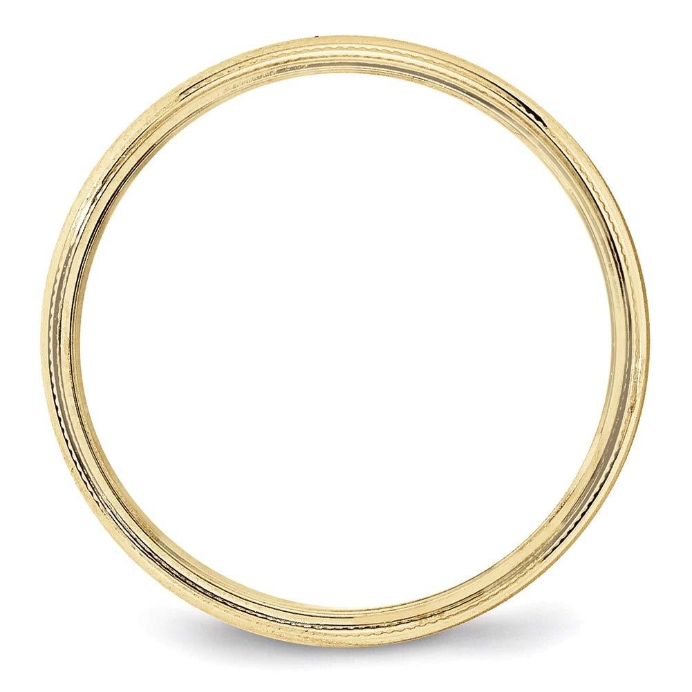 Lex /& Lu 10k Yellow Gold 4mm Milgrain Half Round Band Ring