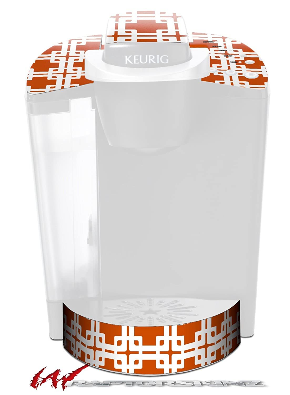 Boxed Burntオレンジ – デカールスタイルビニールスキンFits Keurig k40 Eliteコーヒーメーカー( Keurig Not Included )   B017AKE7VA