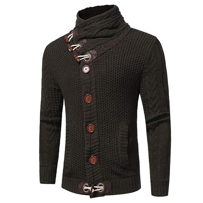 Bestow Hombres Otoño Invierno Abrigo Chaleco Sudadera Suéter Casual Cardigan Suéter Abrigo: Amazon.es: Ropa y accesorios