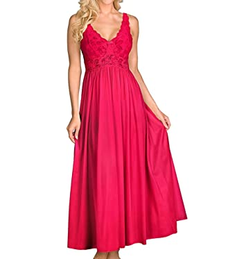 Shadowline Silhouette 53 Inch Gown (31737) 3X/Red at Amazon Women\'s ...