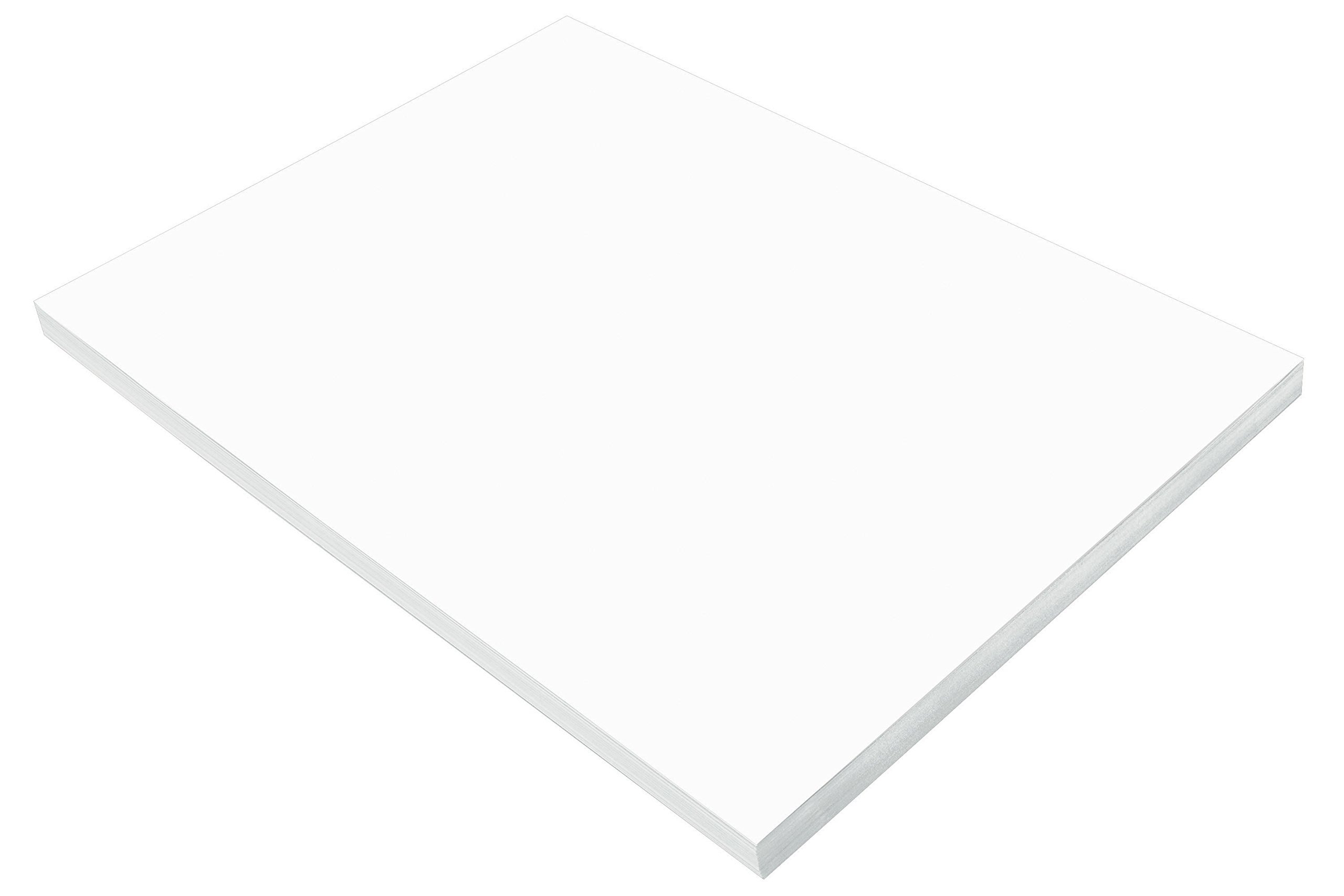 Pacon SunWorks Construction Paper, 18'' x 24'', 100-Count, Bright White (8718)