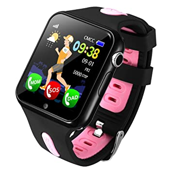 Amazon.com: PINCHU V5 Children GPS Smart Watch with Camera ...