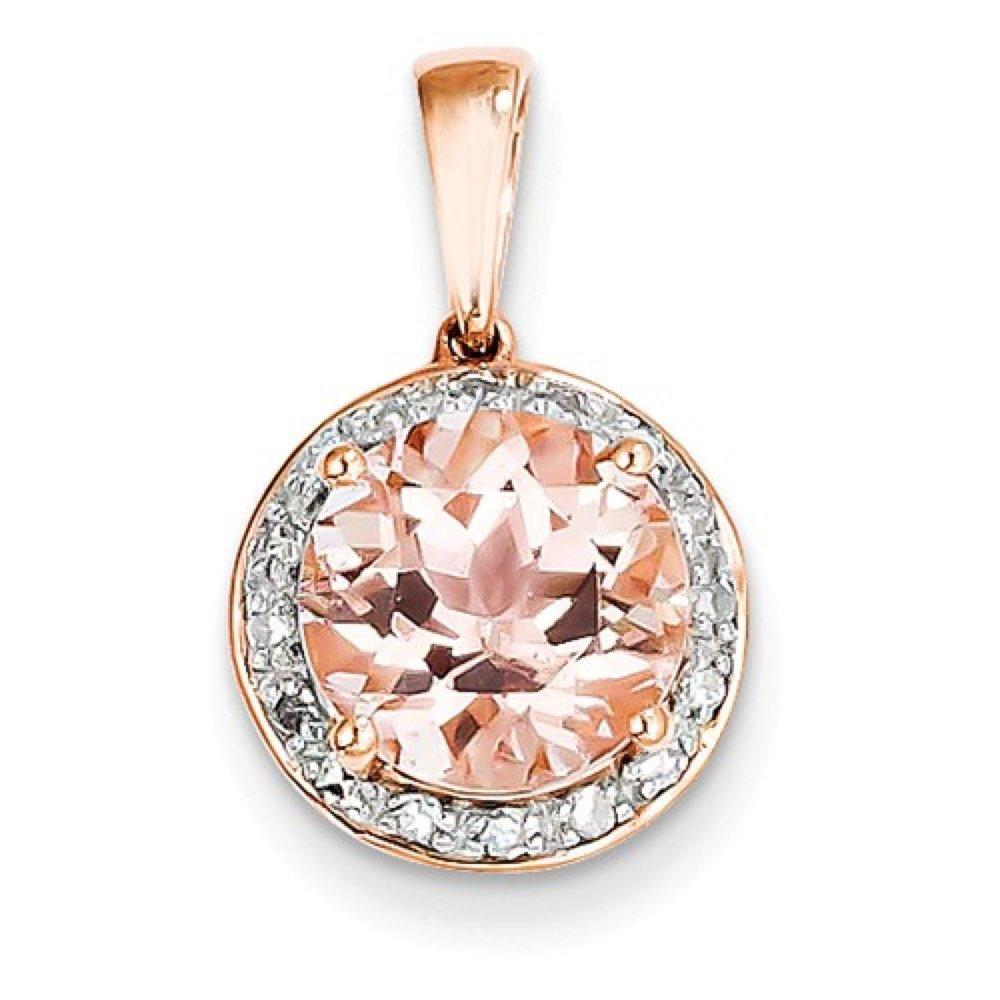 Roxx Fine Jewelry™ Diamond and Morganite Halo Necklace 2.83 Ct. TCW XP4182MG/AA