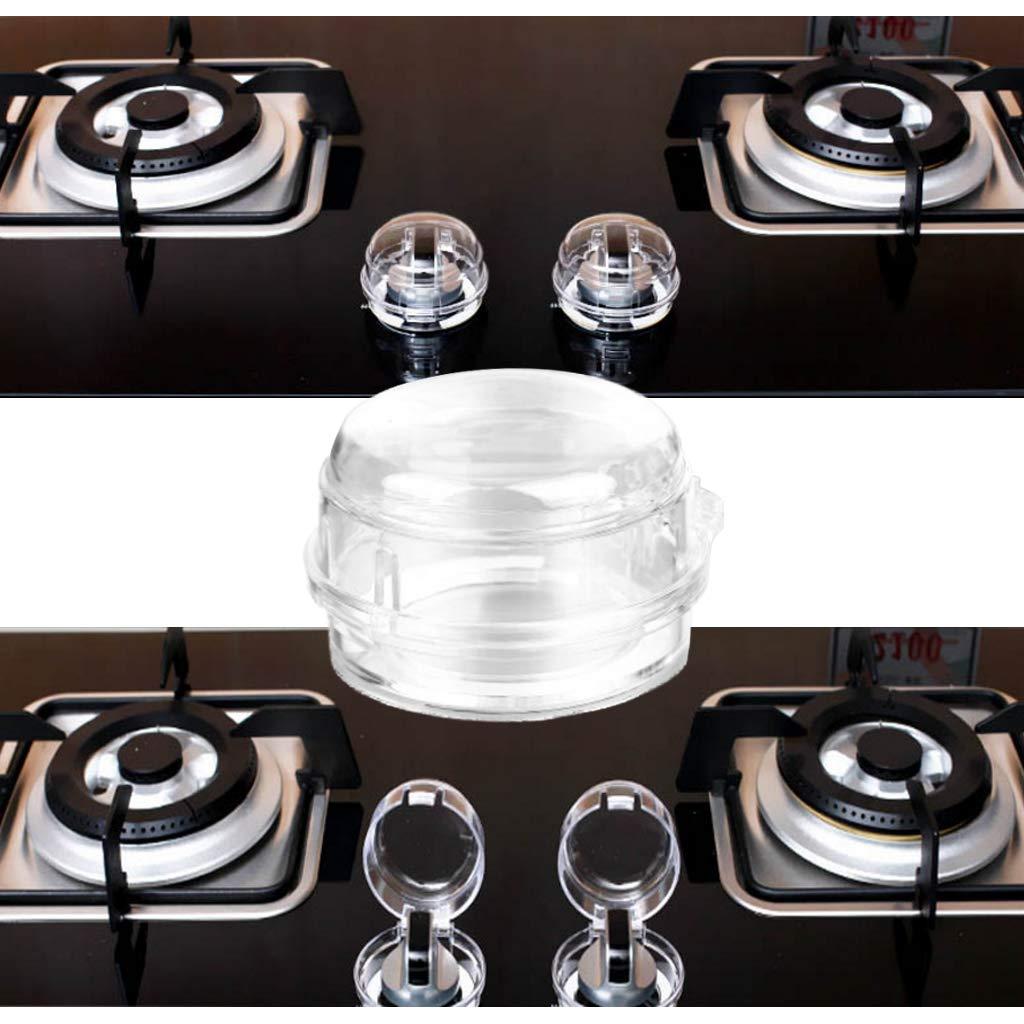 Accesorio de Seguridad para el hogar y la Cocina Cubierta para Interruptor de Cocina de Gas para ni/ños a Prueba de ni/ños Dabixx Funda Transparente