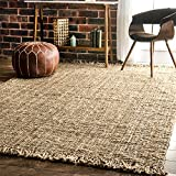 nuLOOM Natural Hand Woven Chunky Loop Jute Area Rug, 3' x 5'