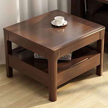 Amazon Com L Life End Tables Side Table Oak Wood Square Coffee