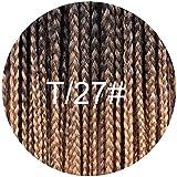 12 16 20 24 30 Inch 22strands/pack Crochet Braids Ombre Braiding Hair Crochet Box Braids Hair Synthetic Hair Extension,T1B/27,24inches
