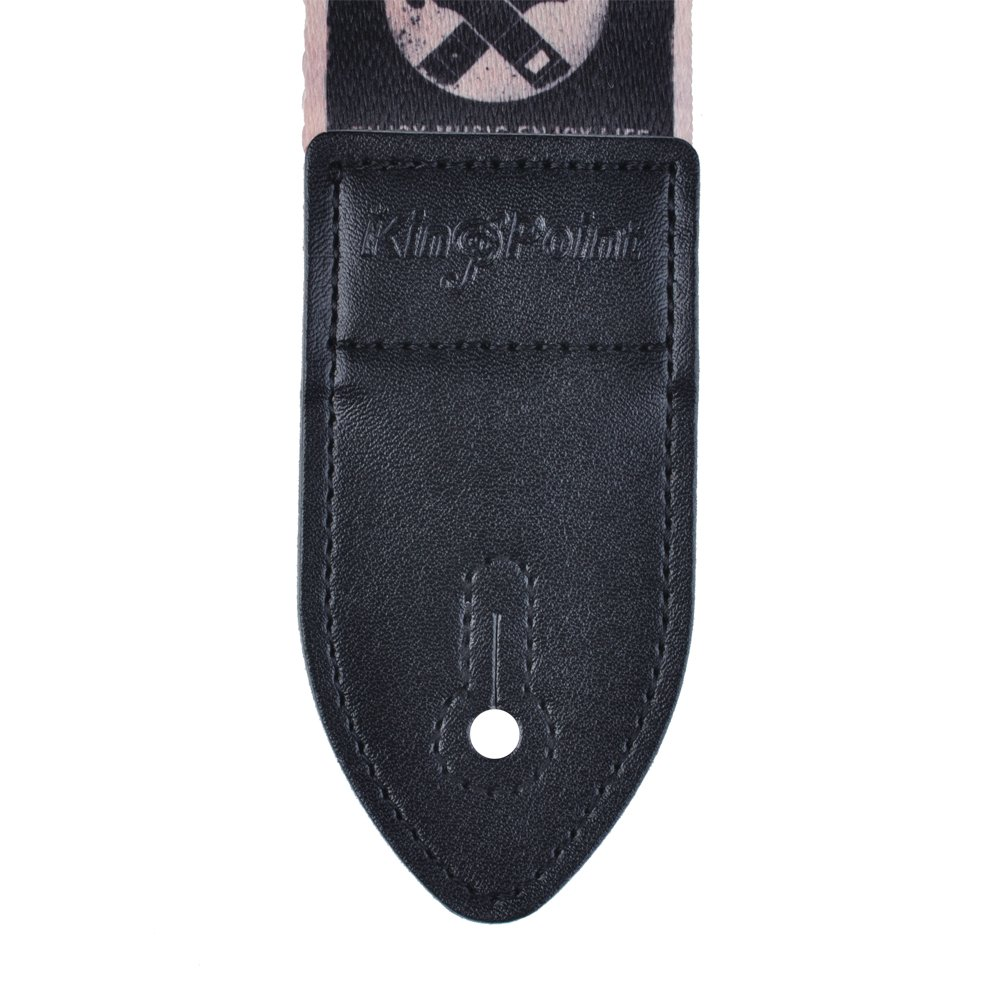 Kingpoint con stampa colorata spessore: 2 mm Picasso con estremit/à in pelle sintetica tracolla per chitarra in poliestere