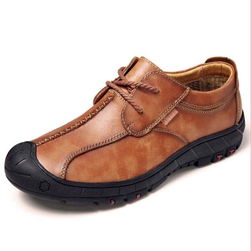 LXMEI Zapatos de Hombre Piel sintética Primavera Verano Zapatos Casuales al Aire Libre Tendencia Zapatos, Marrón Oscuro, 42 42|marrón oscuro