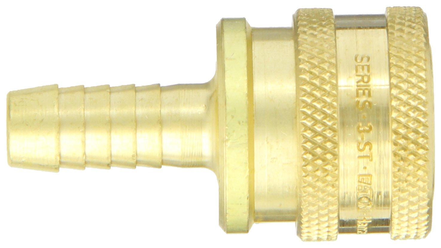 Eaton Hansen 3S22 Brass Straight Through Ball Lock Hydraulic Fitting Socket 3//8 Body 3//8 Hose ID 3//8 Body 3//8 Hose ID