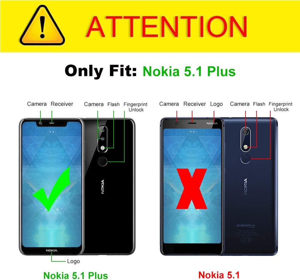 J&D Compatible para Nokia 5.1 Plus Funda, [Fibra Carbono ...