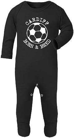 a6b01f219 Hat-Trick Designs Cardiff City Football Baby Romper Sleep Suit ...