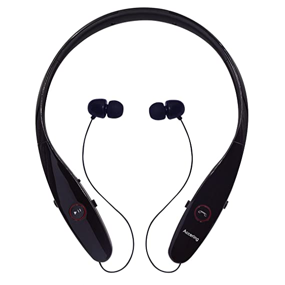 c5956640e8b Wireless Bluetooth Headphones, Accering Sports Bluetooth 4.1 Stereo Headset  Running Neckband with Retractable for iPhone