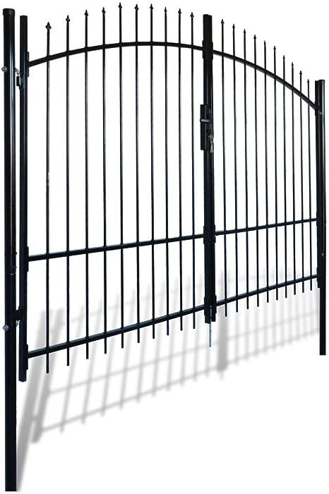 mewmewcat Puerta de Verja Mallada para Jardín 300 x 225 cm Negro: Amazon.es: Deportes y aire libre