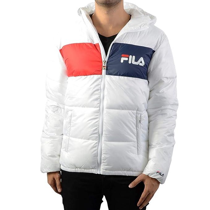 Fila 682368FLOYD Puff JKT Abrigos Y Chaquetas, Y Cazadoras Hombre Bright White XS: Amazon.es: Ropa y accesorios