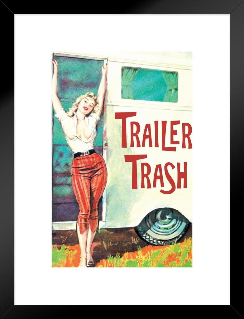 Trailer Trash Pinup Girl Retro Humor Mural Giant Poster 36x54 inch Poster Foundry