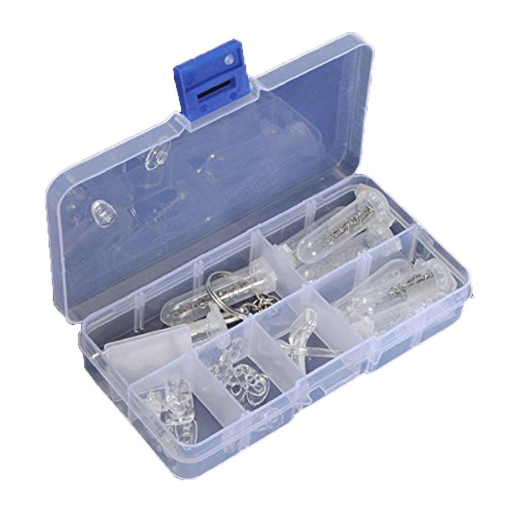 LAAT Portable Glasses Optical Repair Tools Eyeglasses Optical Repair Assortment Kit Screw Tool Silicone Nut Nose Pad Set