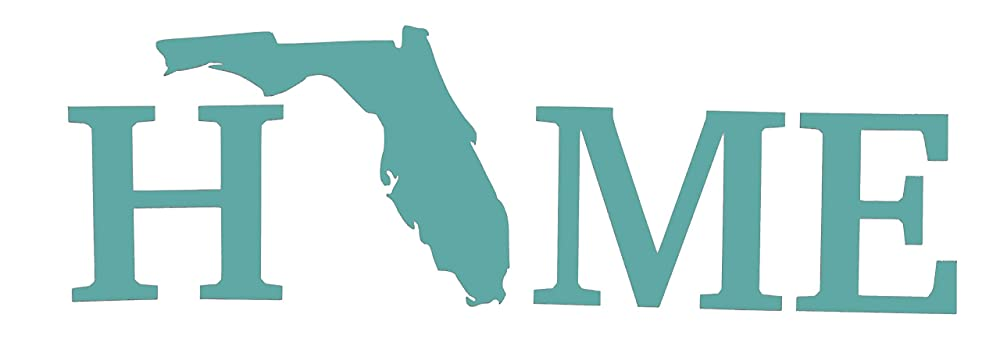 Multiple Colors /& Sizes ebn3811 Florida Home State Vinyl Decal Sticker