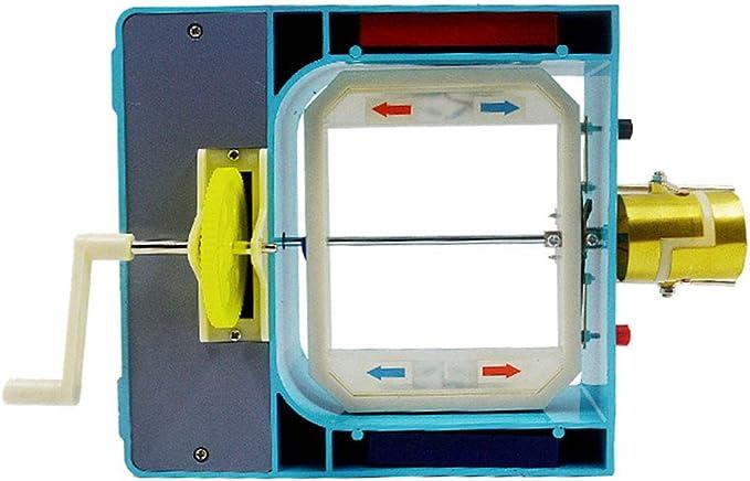 LUCKFY Generador Motor Modelo AC DC Modelo eléctrico/Motor Simple Ensamble Kit de Ciencia Física Estudiante Educación Práctica de Aprendizaje Kit: Amazon.es: Deportes y aire libre