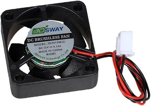 Impresora 3D Ventilador 12V 0.12A DC Mini Silencioso Ventilador ...