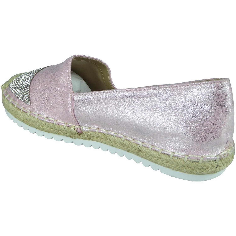 Womens Ladies Glitter Flat Slip On Ballerina Espadrilles Shoes Sandals  Flats Size 3: Amazon.co.uk: Shoes & Bags