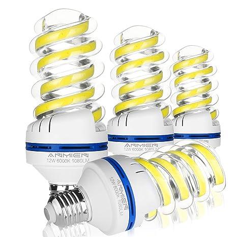 Bombilla LED E27 12 W(Equivale de 100 Vatios), Blanco Frio 6000K Iluminación