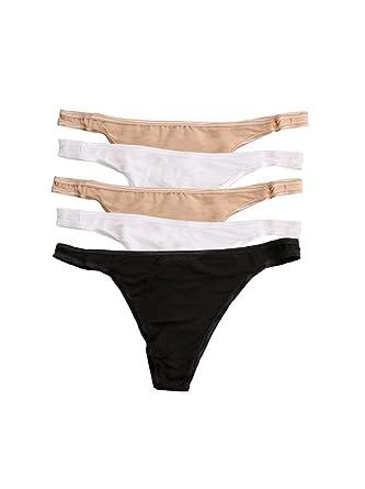 83f0768b9c3e Amazon.com: Felina | So Smooth Low Rise Thong Panties | Micro Modal |  Seamless | 5 Pack: Clothing