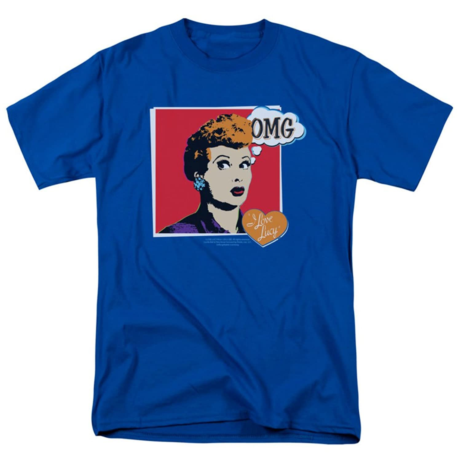 I Love Lucy - Mens I Love Worhol Omg T-Shirt In Royal