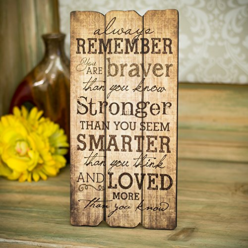 P. Graham Dunn Always Remember You Are Stronger Braver Smarter 12 x 6 Decorative Wall Art Sign Plaque by P. Graham Dunn (Image #2)