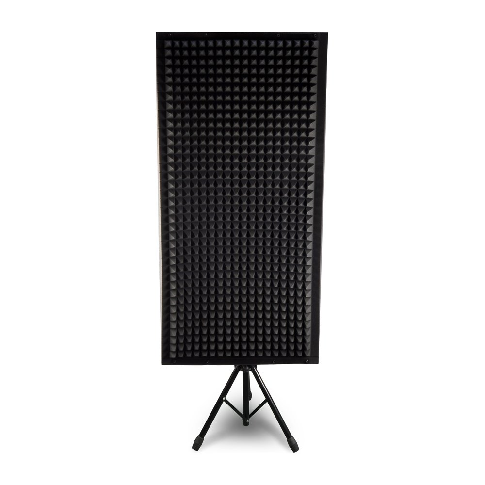 Pyle PSiP24 Acoustic Isolation Absorber Shield Sound Wall Panel Studio Foam and Dampening Wedge with Height Adjustable Stand by Pyle (Image #2)
