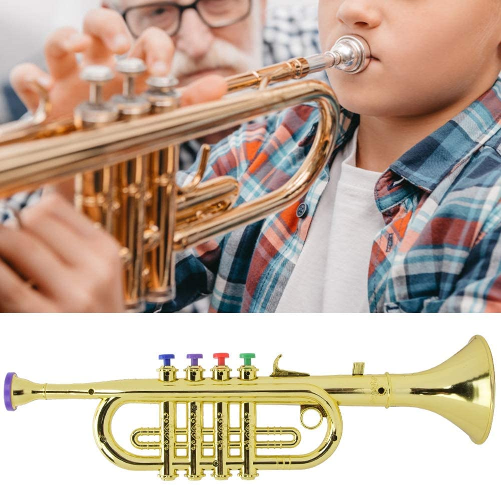 Kid Trumpet Rosvola Horn Musical Instrument Saxophone Trumpet Wind Instrument Musical Instrument Toy Teaching Supplies for Stage Performances
