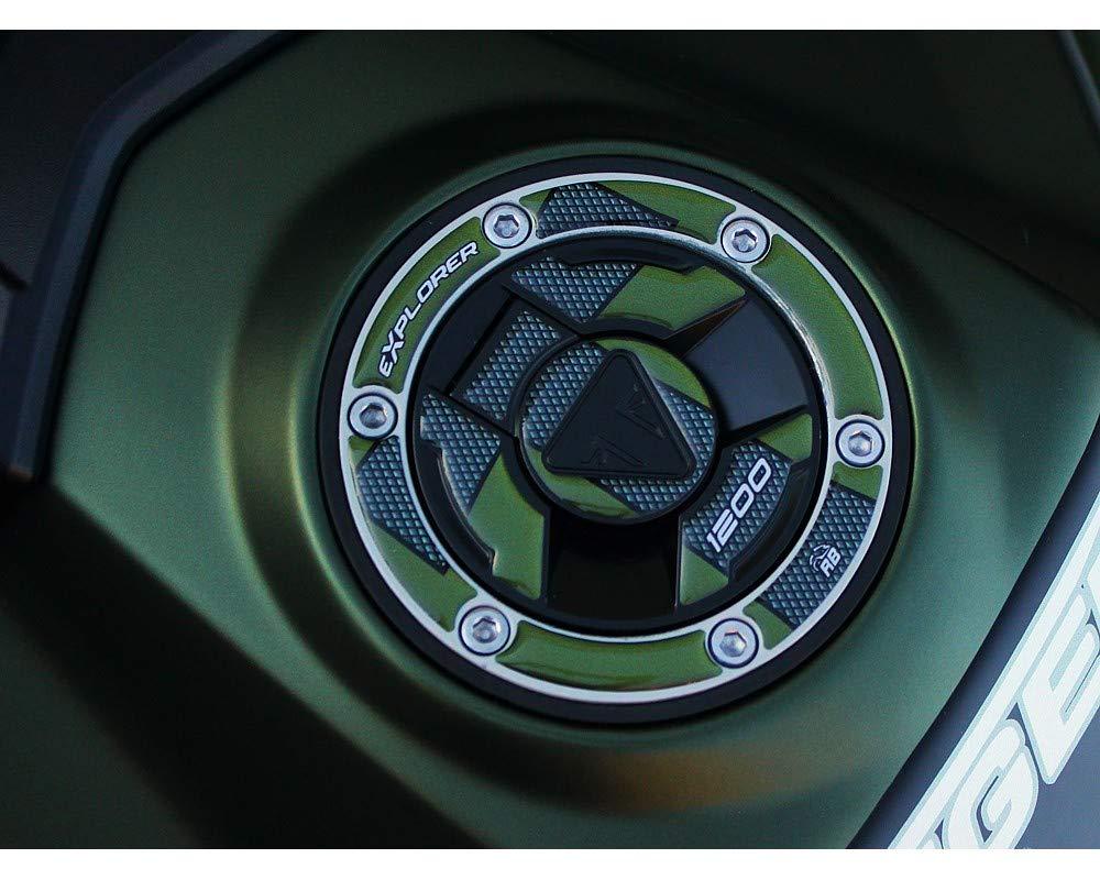 Metal Verde Adesivo Resinato Protezione Tappo Serbatoio Per Triumph Tiger Explorer 1200-2016-2017