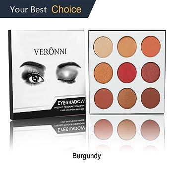 amazon com eyeshadow for valentine gift burgundy color palette