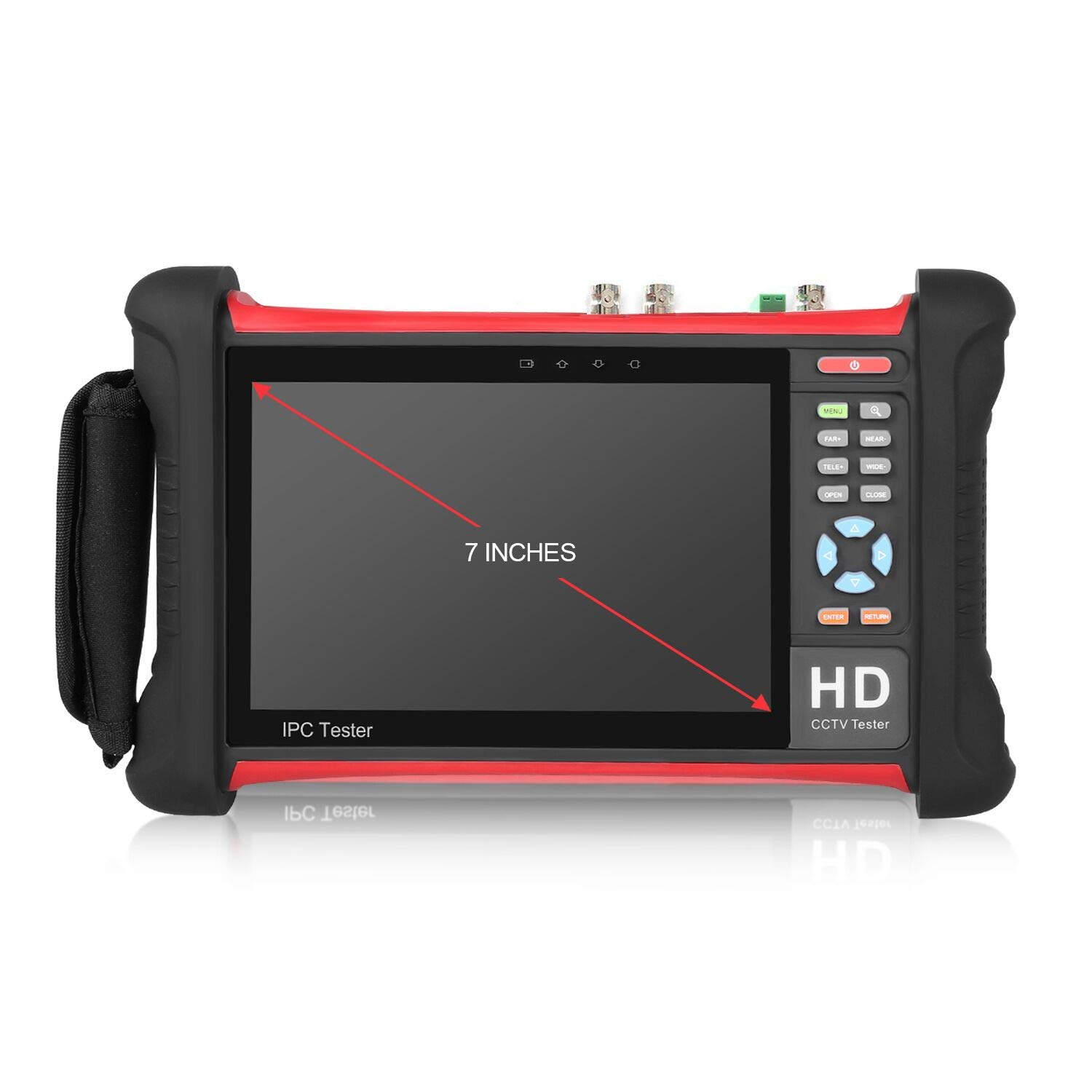 SGEF IP Camera Tester 7 inch 1080p Retina Display Security CCTV Tester Monitor with HD 8MP/AHD/CVI/TVI SDI/POE/TDR/HDMI in&Out/4K H 265/WIFI/Firmware Upgrade (X7 ADHS) by SGEF (Image #2)