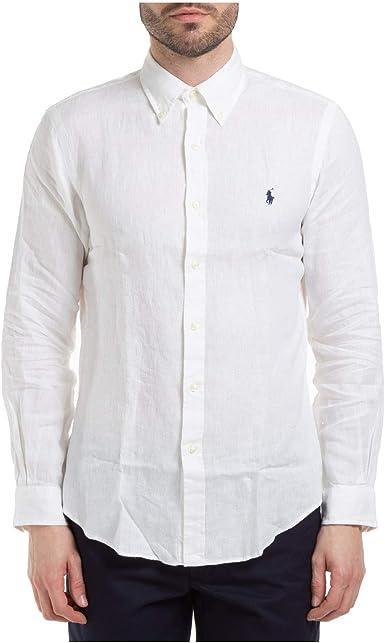 Polo Ralph Lauren Mod. 710794142 Camisa Lino Slim Fit Hombre ...