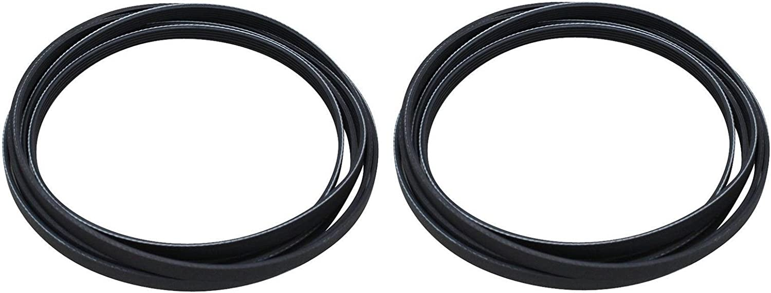 (2 Pack) Dryer Drum Belt 5 Rib For Samsung 6602-001655 Dryer Belt (SEE MODEL FIT LIST)