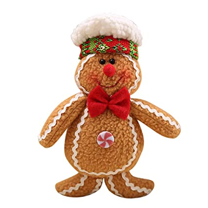 home decorpandaie christmas decorations clearance christmas tree hanging gingerbread man ornaments doll xmas home