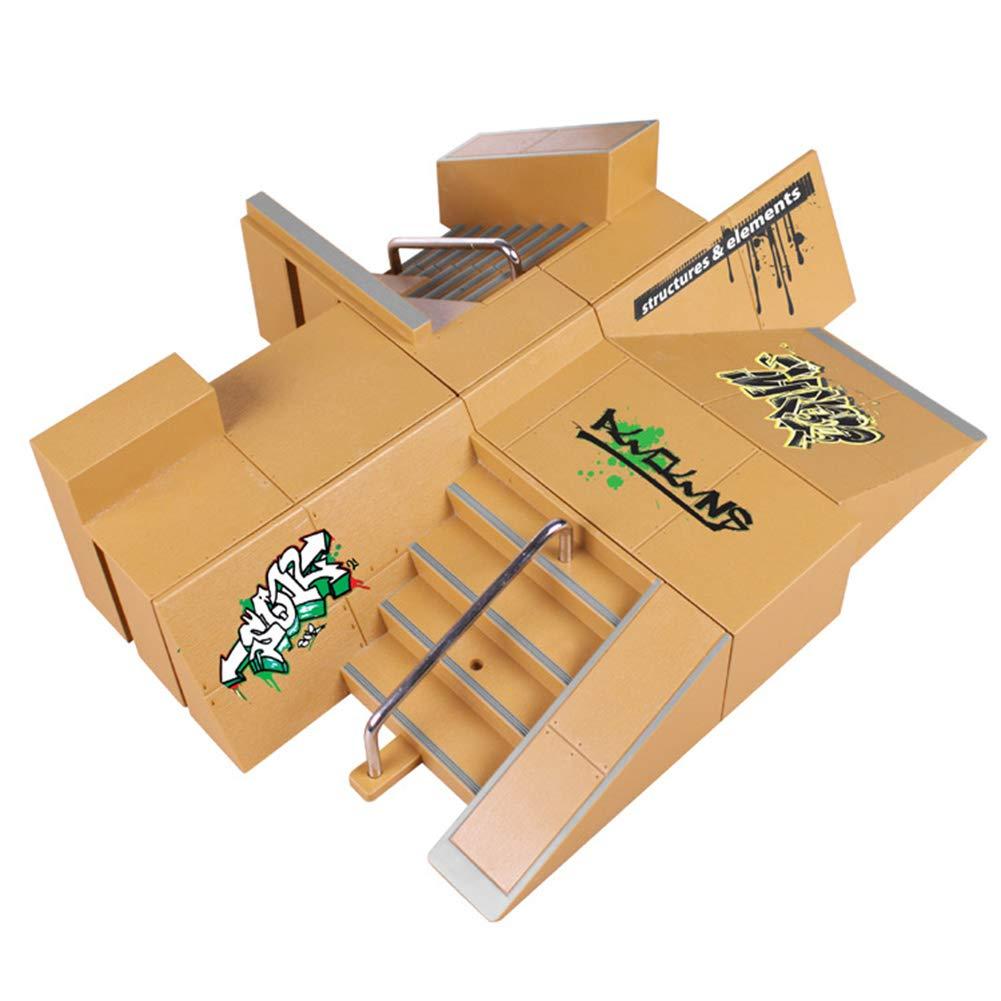 Rubyyouhe8 Stress Relief Toys&Kids Professional Ramp Deck Mini Finger Board Skateboard Skatepark Model Toy Fiddle Toys for Boys Girls Kids Adults Finger Exercise by Rubyyouhe8