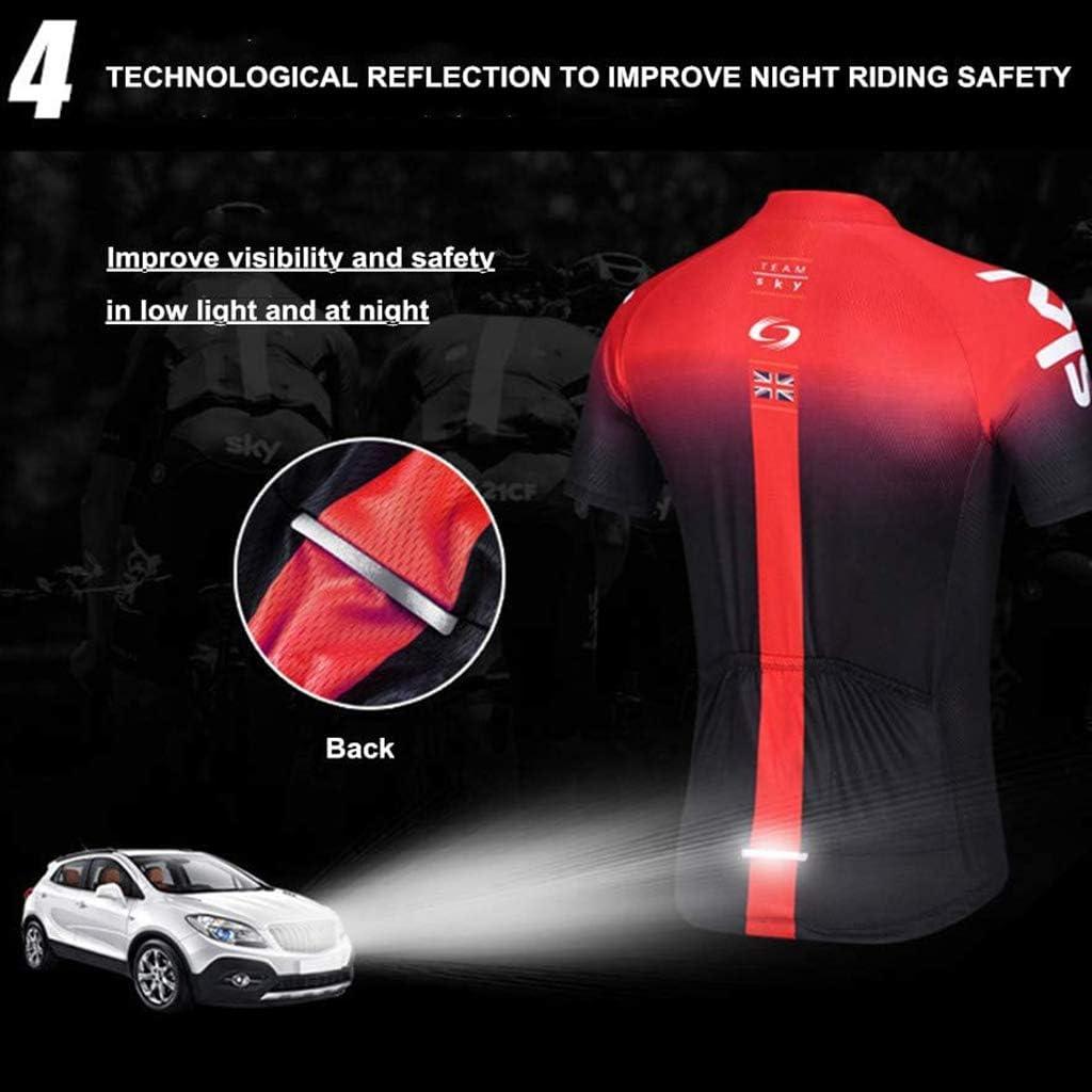 Schnelltrocknend Atmungsaktives Shirt Fahrrad Trikot Kurzarm Set 3D Cushion Shorts Gepolsterte Hose Herren Radtrikot Set