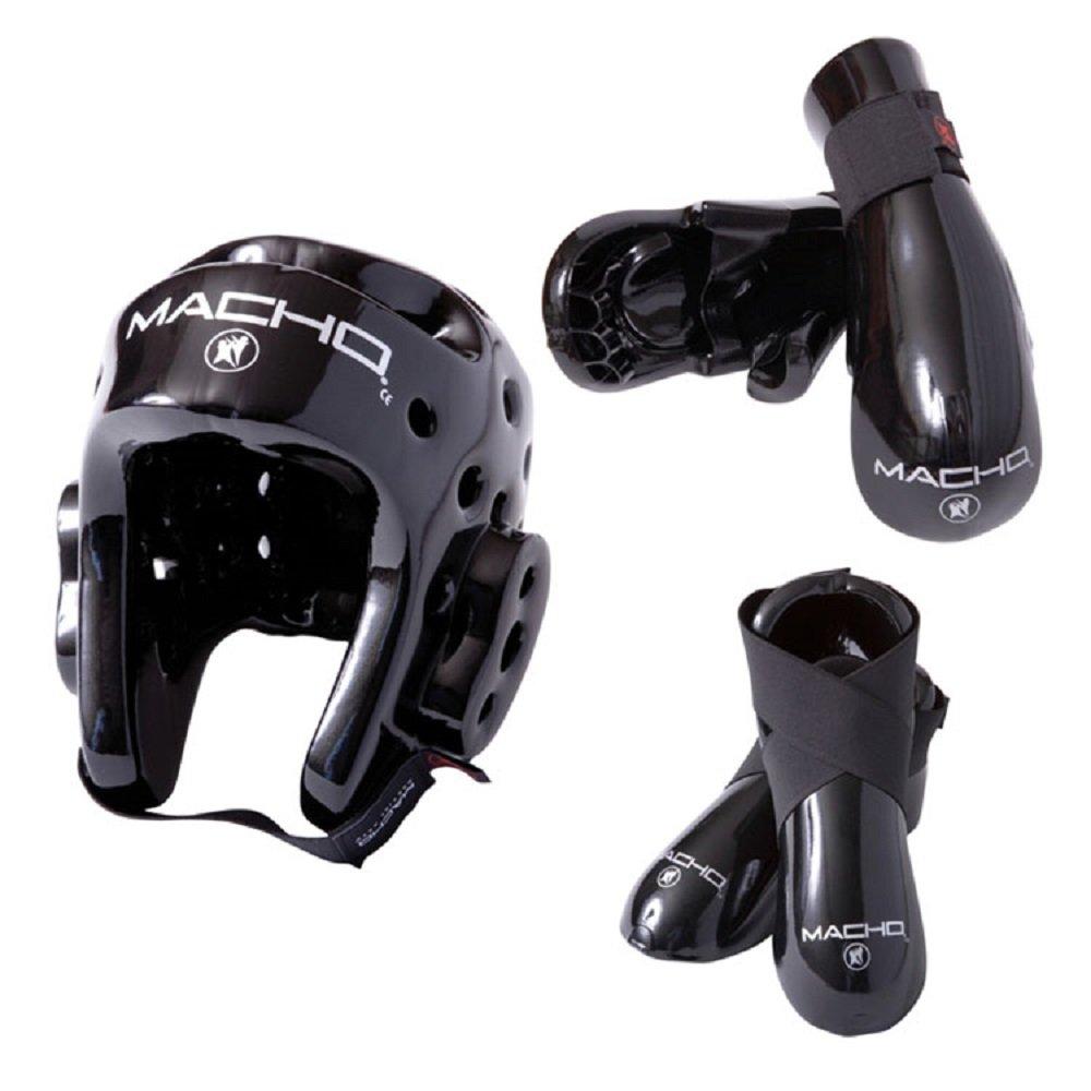 Macho gear Dyna 5 B001GKQ4Y4 piece sparring gear setブラック大人用スモール Macho B001GKQ4Y4, SEXPOT:a3eec194 --- capela.dominiotemporario.com